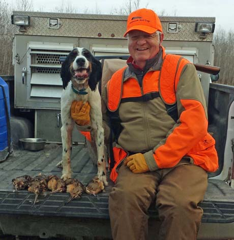 For most of October, I guide for Bill Heig out of Bowen Lodge northwest of Grand Rapids. At the end of month, though, Ray Marshall and I enjoyed three days in the woods, here with Northwoods Carly Simon (Blue Shaquille x Houston's Belle's Choice, 2011).