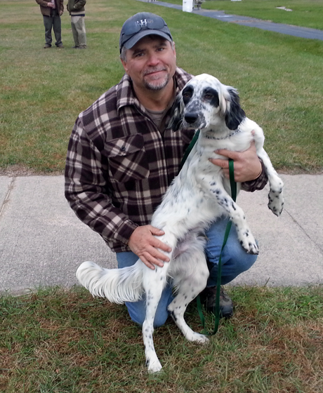 We know many people involved with RGS and the NGWH. It was fun for us to see Andy Duffy and Boo, his eight-month-old setter male puppy out of our Carly Simon and Sunny Hill Sam. We last saw them in April when Andy pulled out of our driveway in Georgia with tiny Boo on his lap.